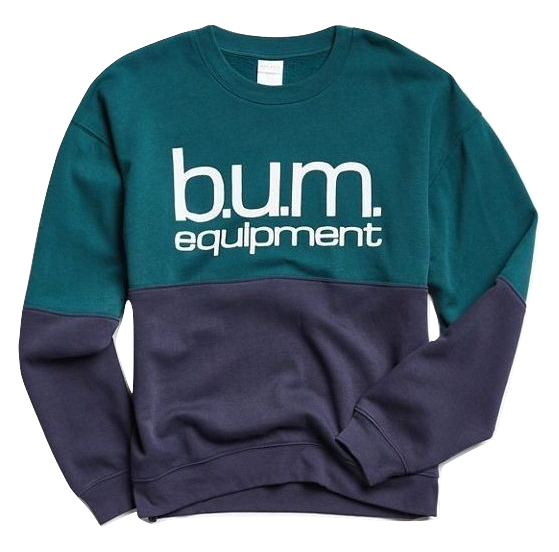 Two-Toned B.U.M. Crew Neck Sweatshirt