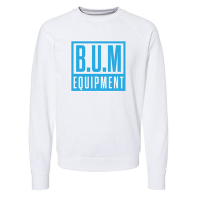 Square Crewneck Sweatshirt - White/Baby Blue