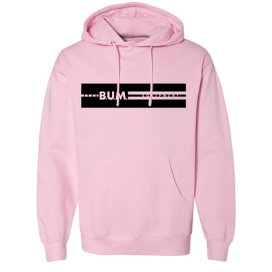 Stripe B.U.M. Equipment Hoodie - Light Pink