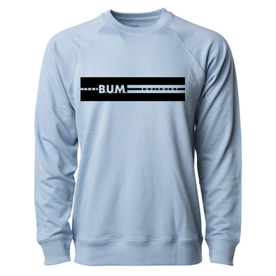 Stripe B.U.M. Equipment Crewneck - Baby Blue