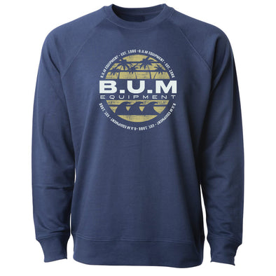 Palm Tree B.U.M. Crewneck Sweatshirt - Indigo