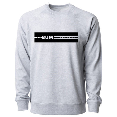 Stripe B.U.M. Equipment Crewneck - Grey
