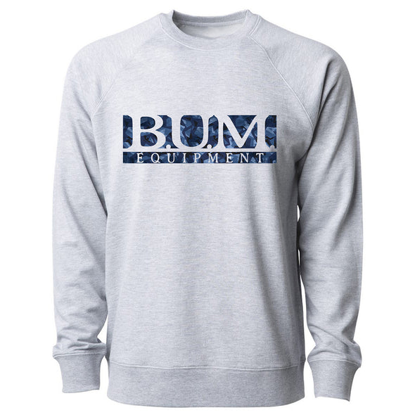 Abstract B.U.M. Crewneck Sweatshirt - Grey