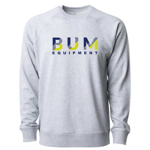 Navy Maize Stripe Crewneck Sweatshirt - Grey