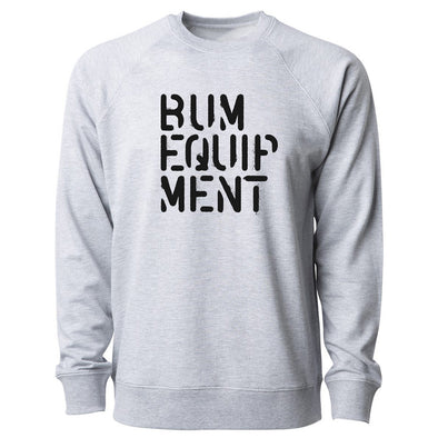 Spray Stencil Crewneck Sweatshirt - Grey