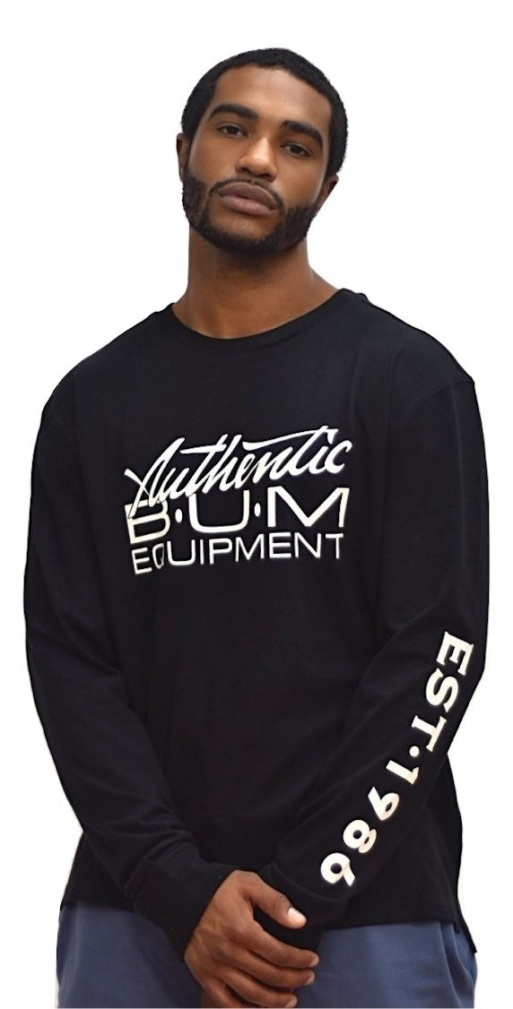 Long Sleeve Authentic B.U.M. - Black