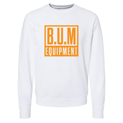 Square Crewneck Sweatshirt - White/Orange