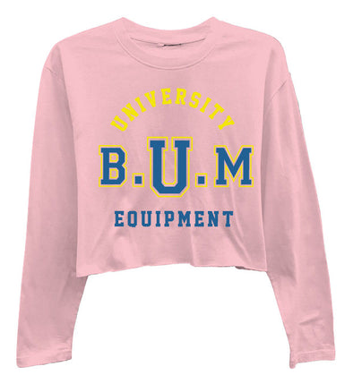Soft Pink University High-Low Long Sleeve