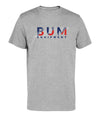 Red White Blue Stripe Tee - Grey