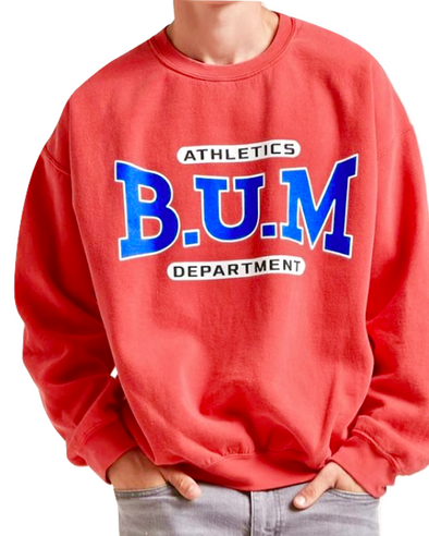 Vintage Red Athletic B.U.M. Department Crew Neck Sweatshirt