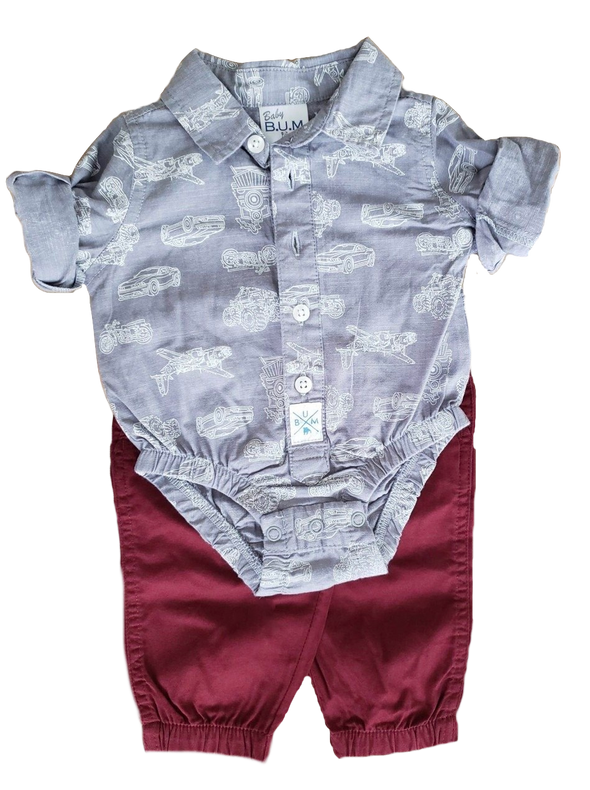 Vehicle Newborn Two-Piece Set
