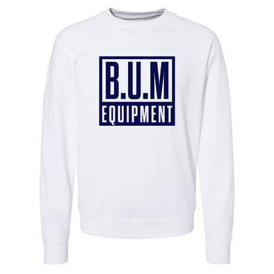 Square Crewneck Sweatshirt - White/Navy