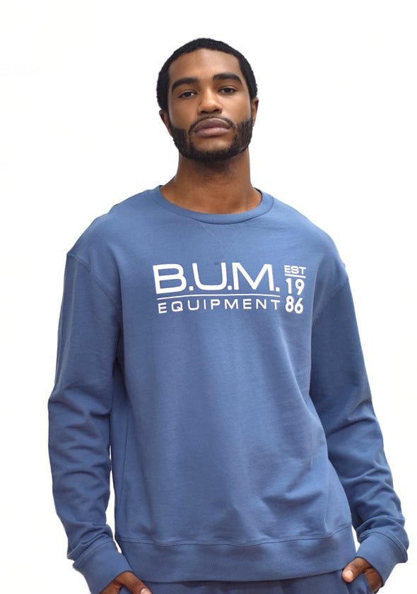 B.U.M. French Terry Crew- Infinity Blue