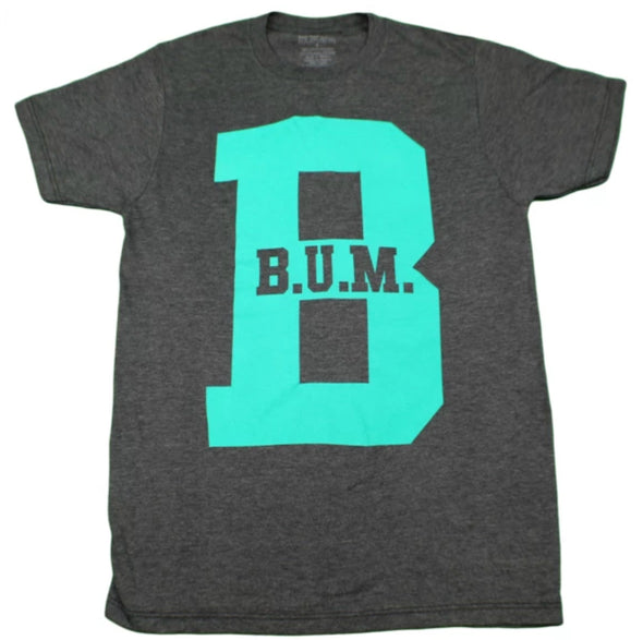 Heather Grey and Green B.U.M. Tee