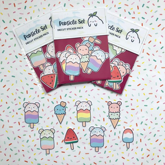 (D0013) Kawaii Popsicle Sticker Bundle