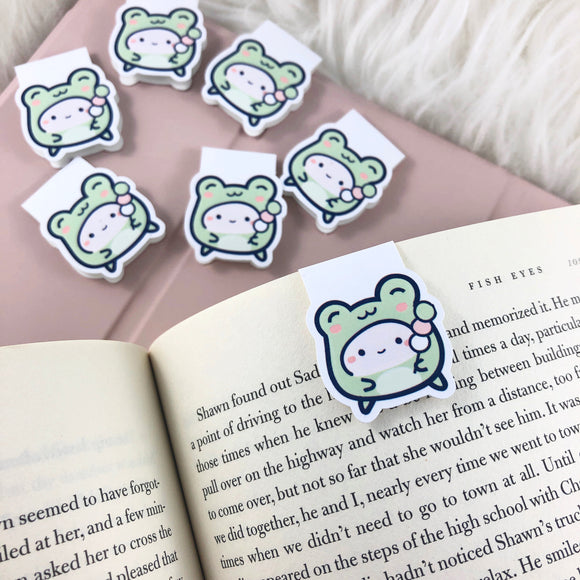 (BM006) Kawaii Frog | Magnetic Bookmark | handmade