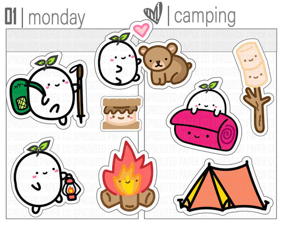 (S0141) Camping & Hiking Stickers