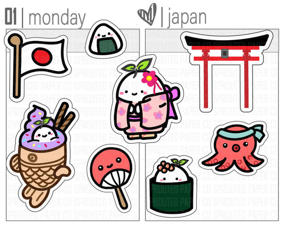 (S0135) Travel Japan Stickers