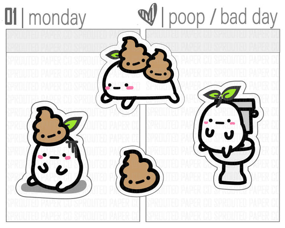 (S0128) Poop Day Stickers