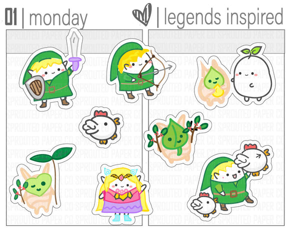 (S0140) The Legends of Sproutie Stickers