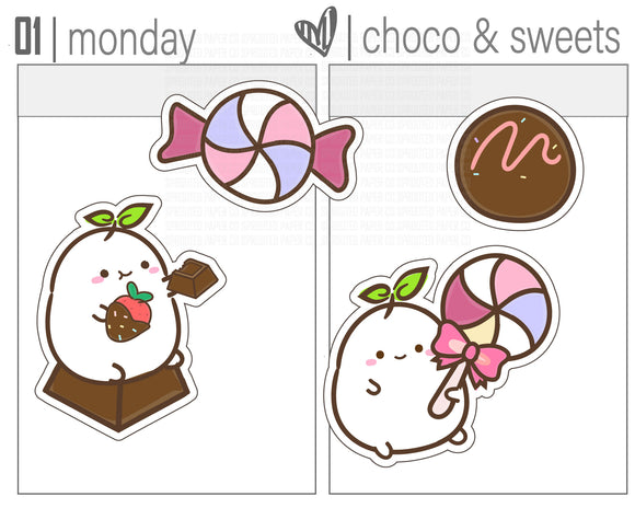 (S0147) Chocolate and Sweets Stickers