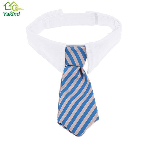 Necktie Striped Adjustable Collar for Cat or Dog