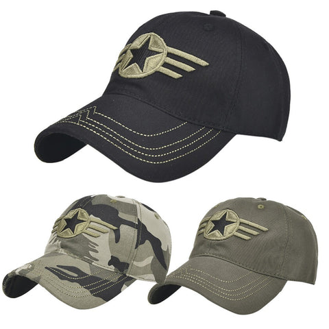 Baseball Hat Embroidery Military Star