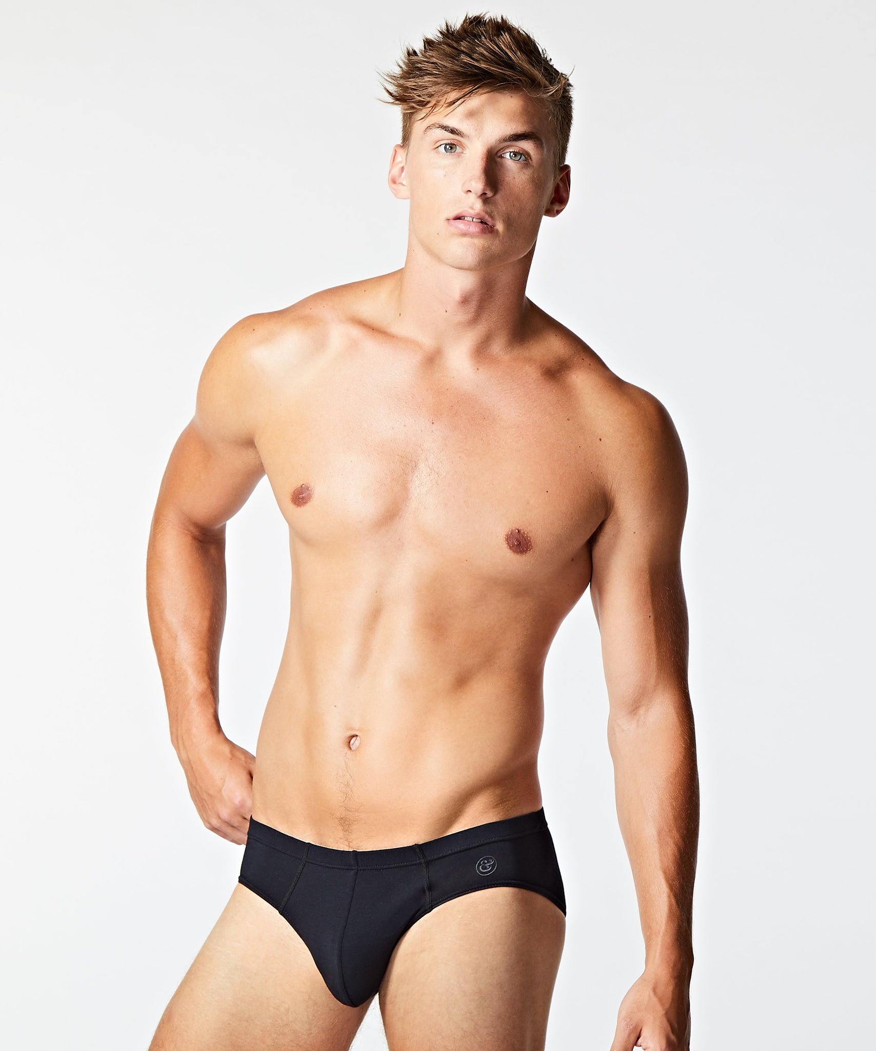 Micro Modal Slip Brief Black