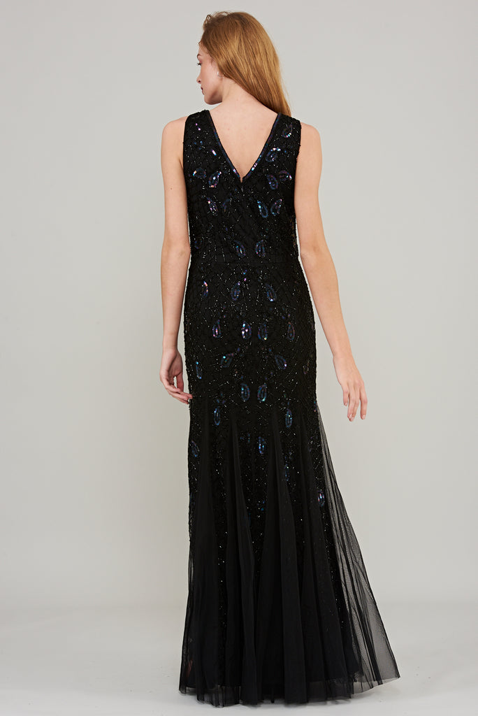 Astra Embellished Maxi Dress - Black - Amelia Rose - Frock and Frill
