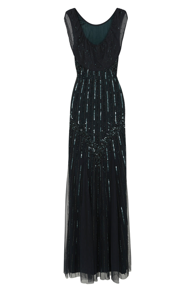 Cerelia Embellished Maxi Dress - Deep Teal - Amelia Rose - Frock and Frill