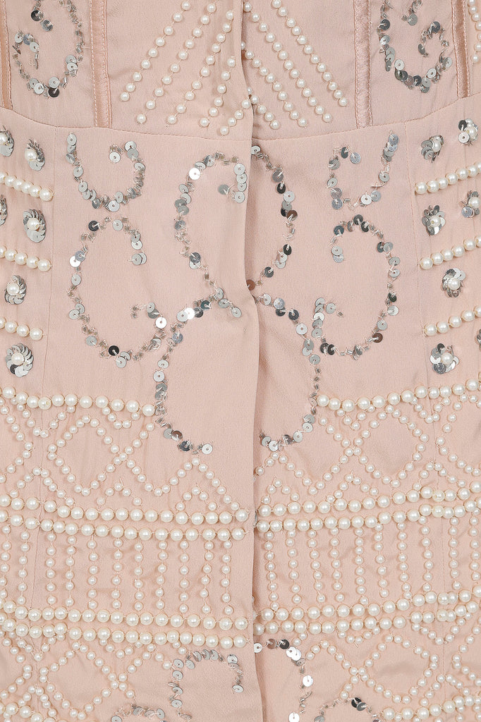 Frock and Frill Club Karleigh embellished tux dress in blush