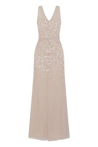 Frock and Frill Nude Kaylana Embellished Maxi Dress
