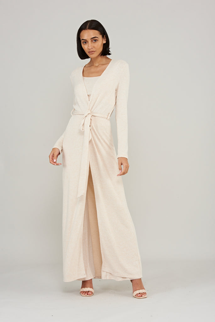 Lounge Longline Cardigan - Cream - Frock and Frill