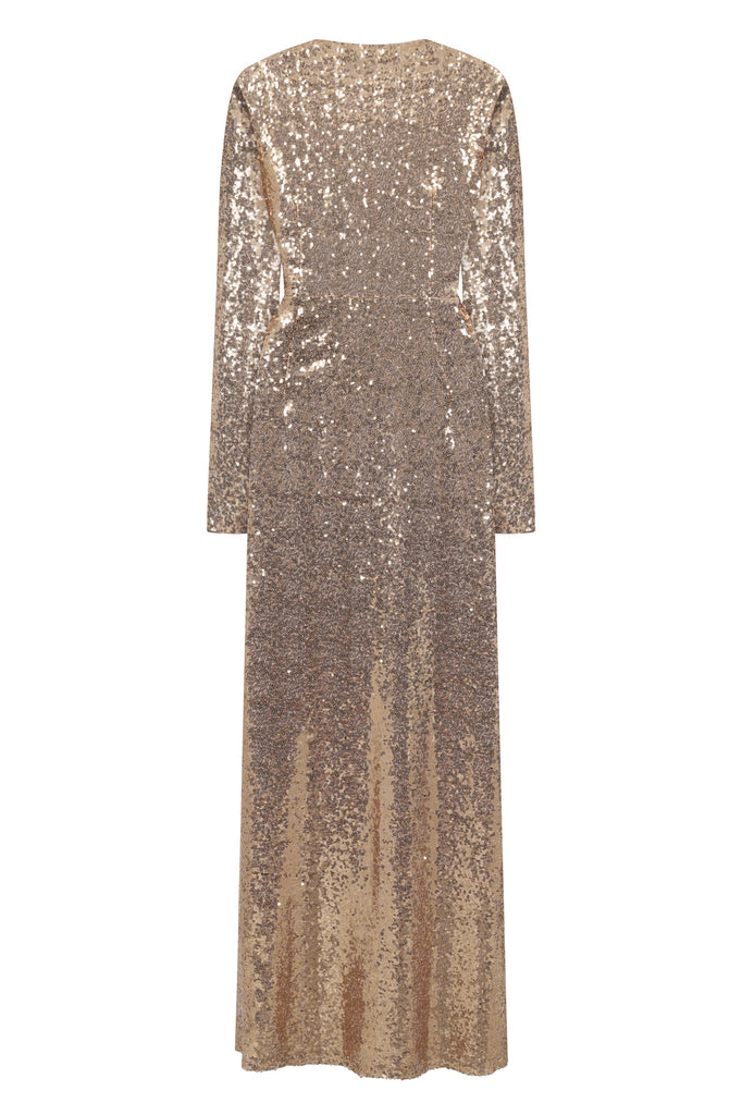 Luna Rose Gold Sequin Maxi Dress - Rose Gold- Amelia Rose - Frock and Frill