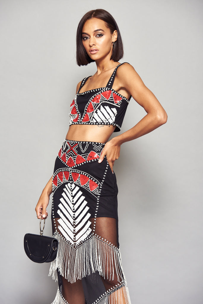 STARLET Embellished Bralet Top Co-Ord