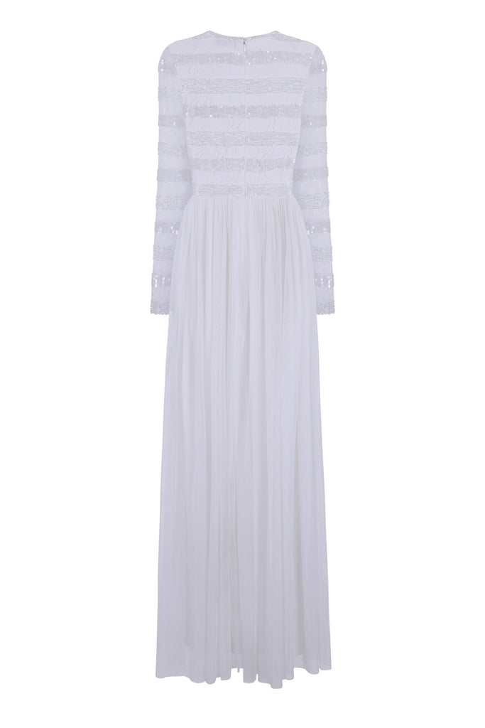 Gardeina Sequin and Lace Stripe Maxi