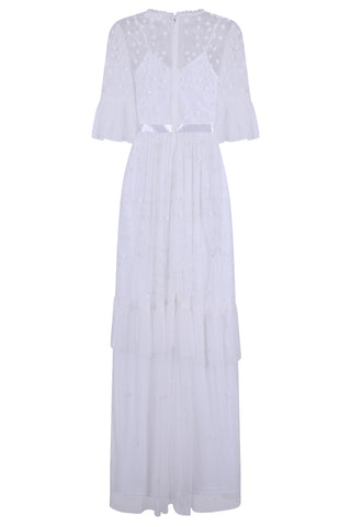Halsey Embellished Flute Sleeve Maxi Dress