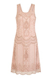 Ziegfeld Embellished Dress Blush Mono