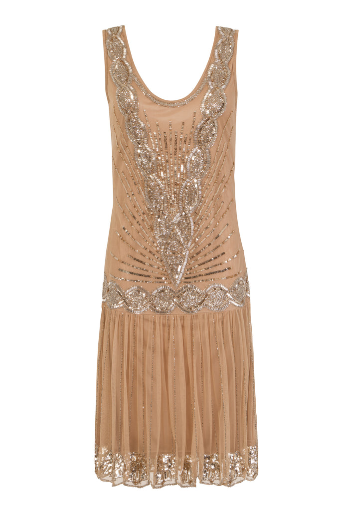 Zelda Flapper Dress Gold & Silver