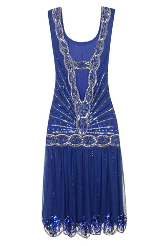 Zelda Flapper Dress Cobalt