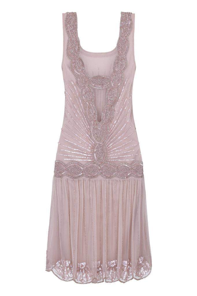 Zelda Flapper Dress Nude Blush