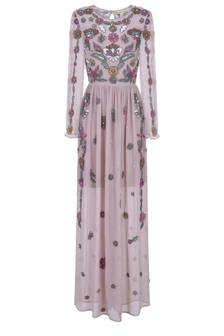 Francisca Embellished Long Sleeve Maxi