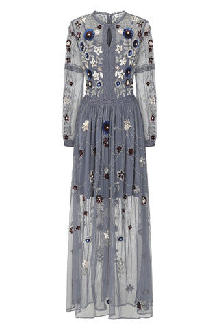 Harlow Long Sleeve Embellished Maxi Dress