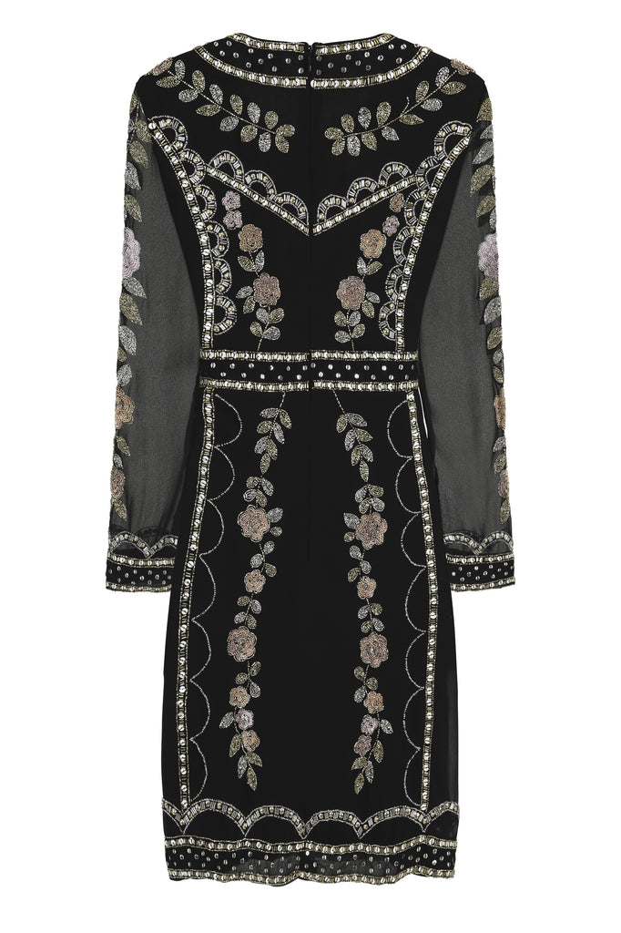 Heidi Long Sleeve Embellished Dress