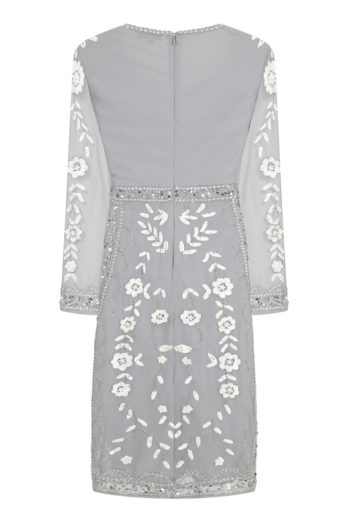 Harper Embellished V-Neck Midi Dress