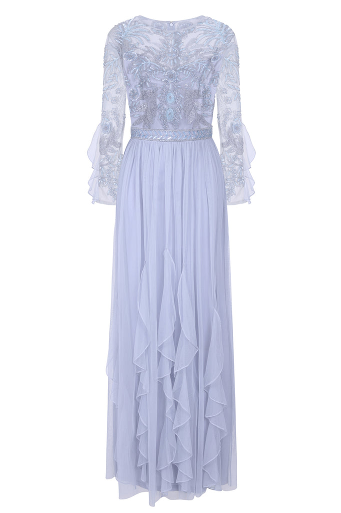 Georgina Embellished Maxi with Ruffled Skirt