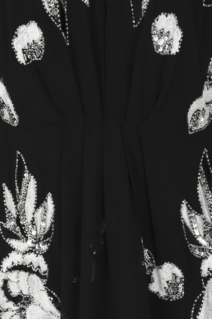Gracie Black Embellished ¾ Sleeve Midaxi
