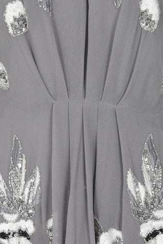 Gracie Grey Embellished ¾ Sleeve Midaxi