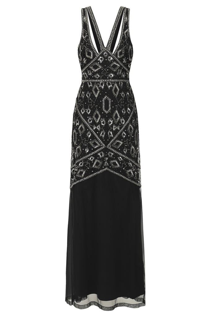 Henrietta Embellished Maxi With Cut Out Detail