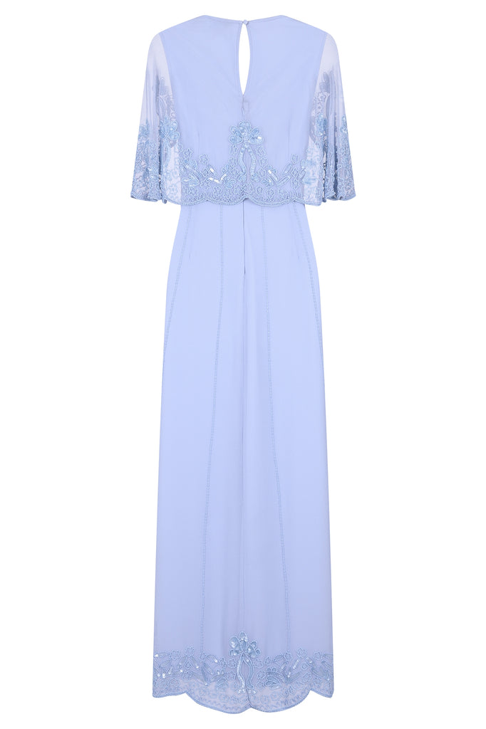 Eliza Blue Sequin Maxi Dress